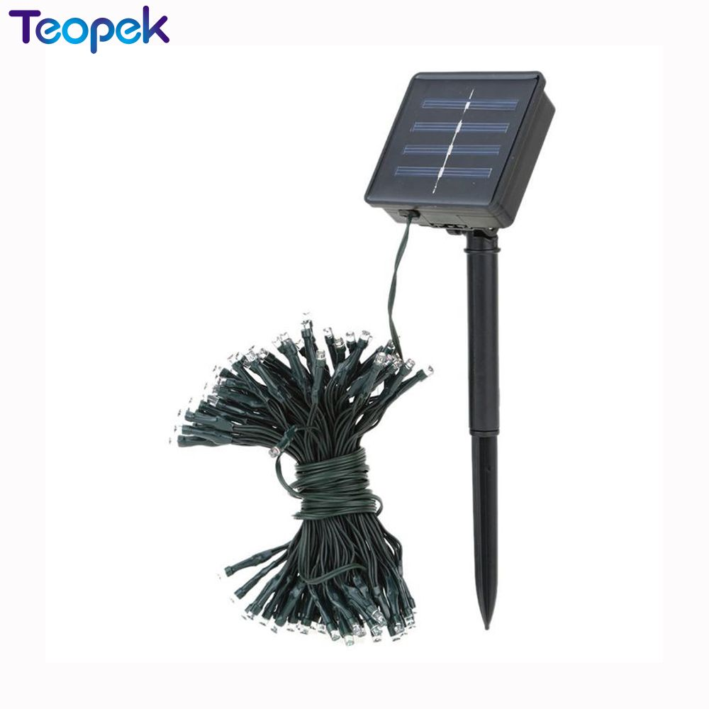 50/100/200 LED Outdoor Solar Lamps LED String Lights Fairy Holiday Christmas Party Garlands Solar Garden Waterproof Lights 14012 model building kits compatible with lego knights clay s rumble blade jestro model building toys hobbies 70315