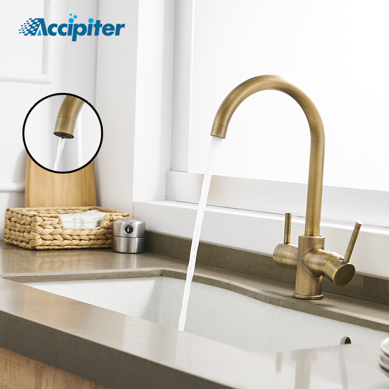 Kitchen Faucet Purified Water Purification Faucets Deck: Waterfilter Kitchen Faucets Deck Mounted Mixer Tap 360