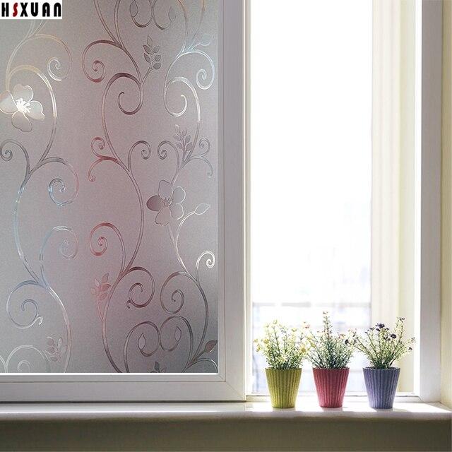 Exceptional Schlafzimmer Fenster Film #3: Decor Fenster Film Schlafzimmer Sonnencreme Zellophan 40x100 Cm 3D Cam  Floral Selbstklebende Statischen Fenster Aufkleber Hsxuan