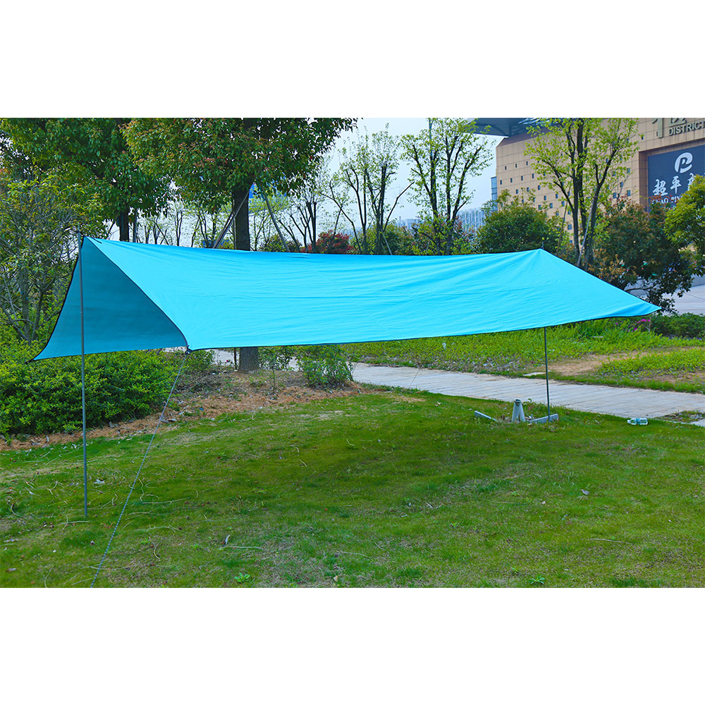 Image 2 - Outdoor Oxford Cloth Waterproof  Pergola Silver Coating Awning Sunscreen Sunshade Beach Tent Sun Shelter Camping Trap-in Sun Shelter from Sports & Entertainment