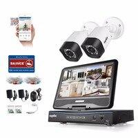 SANNCE 4CH CCTV System 720P HDMI TVI AHD CCTV DVR 2PCS 1 0 MP IR Outdoor