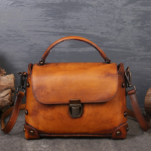 Genuine Leather Women Handbags Bolsa Feminina Fashion Designer Rivets Cowhide Shoulder Crossbody Bag Messenger Bag Flap стоимость