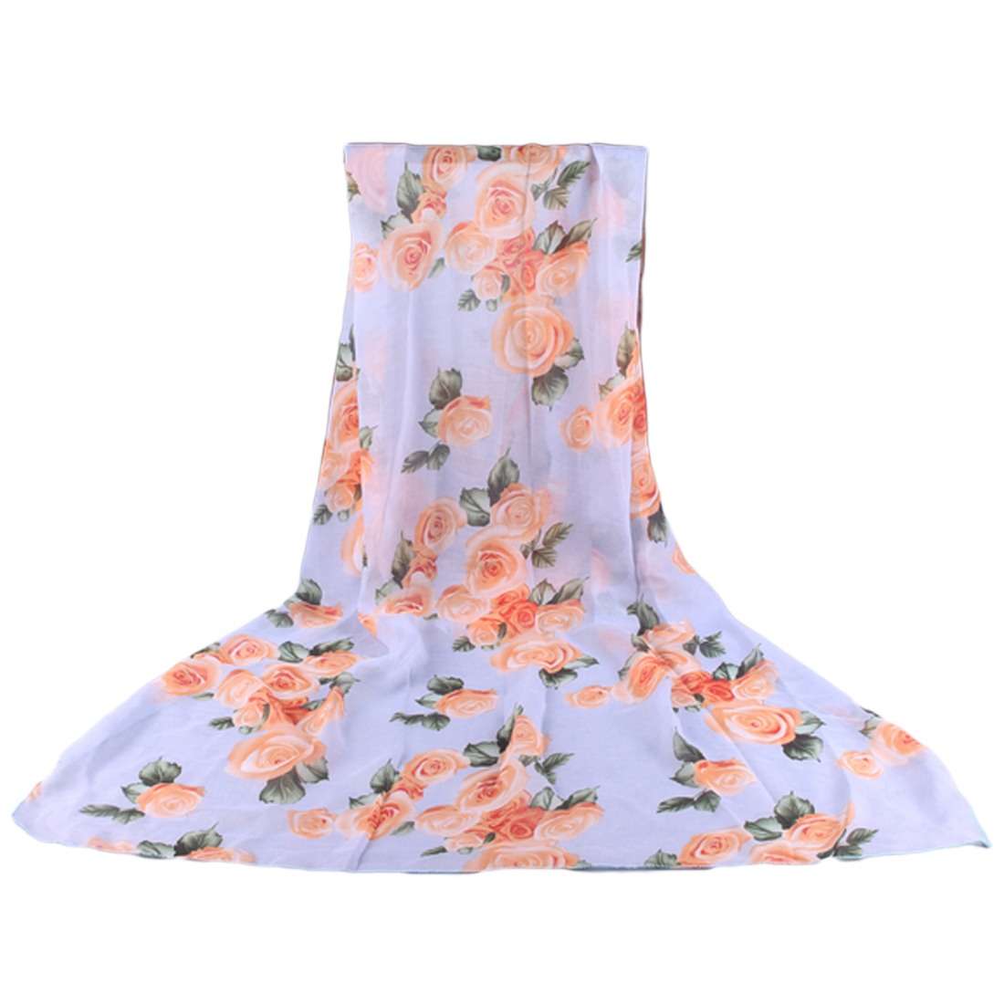 Charming Ladies 39 Lover Flower Rose Chiffon Scarf Chevron Infinity Scarves Women Shawl Beach Towel Female Long Summer Scarf in Women 39 s Scarves from Apparel Accessories