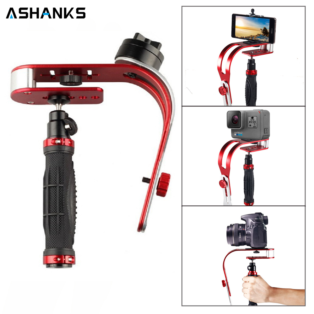 Caméra Steadycam stabilisateur de poche Vidéo Steadicam Support pour Photo Studio Canon Nikon Sony Gopro Hero DSLR iphone Samsung