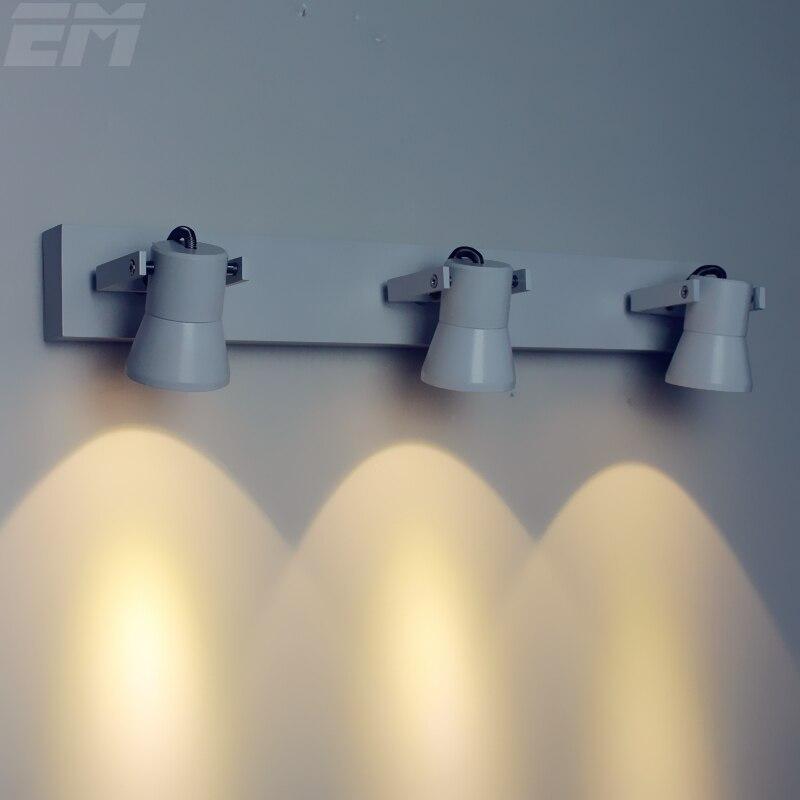 stile morden bagno specchio luce led 45060120mm alluminio 3 testa regolabile 9
