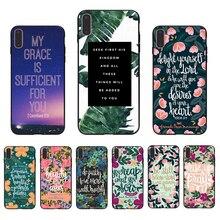 IMIDO Bible Verse Philippians Jesus Christ Christian Soft case For Iphone 5S SE 6 6S 6PLUS 6SPLUS 7 8 7PLUS 8PLUS X XS XR XSMAX
