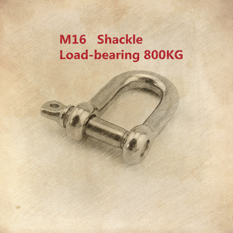 1PCS  YT528 M16  304 Stainless Steel Type D Shackle   Bow Shackle   Quick-Release Fastener   Load-bearing 800KG1PCS  YT528 M16  304 Stainless Steel Type D Shackle   Bow Shackle   Quick-Release Fastener   Load-bearing 800KG