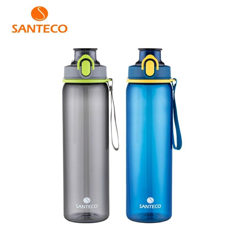 Santeco Léger Bouteille D'eau SANS bpa Tritan Bouteille D'eau en Flacon 500 ml 800 ml