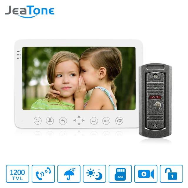 """JeaTone 7"""" Built-in Memory 1 Outdoor Camera 1 Monitor Video DoorPhone Doorbell Intercom with Image Video Intercom"""