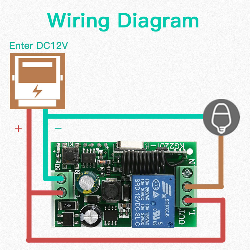 433MHz 1CH Remote Light Switch Kits Wireless Relay Receiver Module with 86 Touch Transmitter RF Tempered Glass AC 85V 110V 220V in Remote Controls from Consumer Electronics
