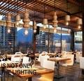 Эдисон Лофт стиль деревянный Тыква Droplight современные подвесные светильники для гостиной столовой подвесной светильник для внутреннего осв...