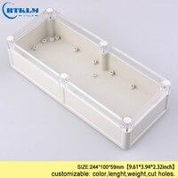 Caja de instrumentos electrónicos de plástico ABS Caja impermeable de plástico para Proyecto de caja para conexiones caja de control DIY 244*100*59mm IP68