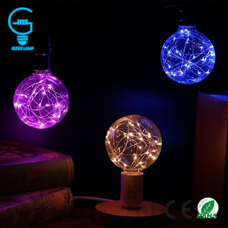220 V Vintage Design Fée LED Ampoule E27 85 V-265 V G95 RGB Guirlande lumineuse Lampe À Incandescence Pour décor De Noël De Mariage De Vacances éclairage