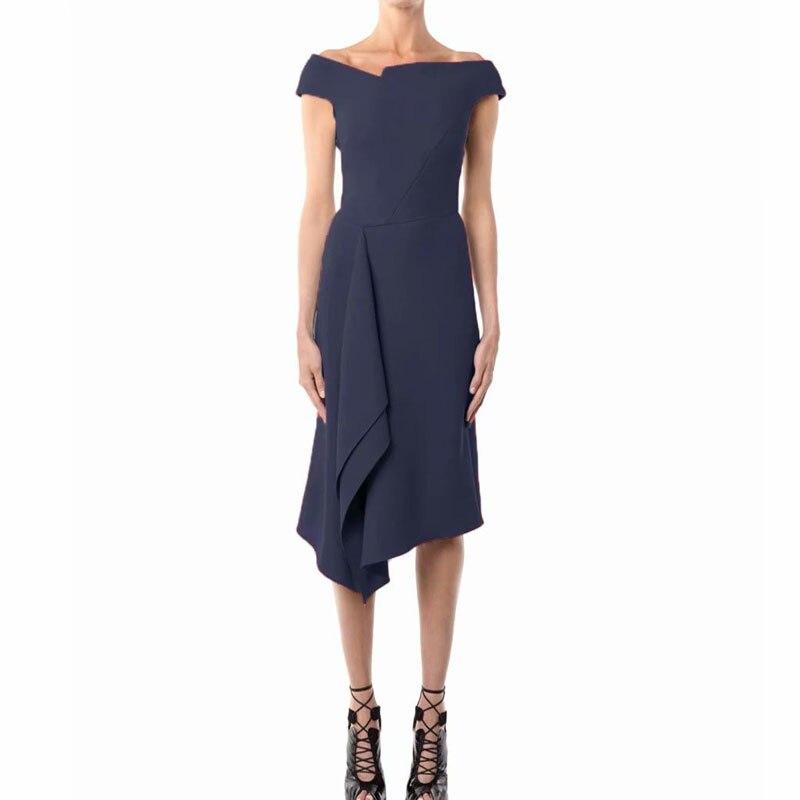 Longue robe piste Designer haute qualité 2019 été nouvelles femmes mode travail fête Vintage élégant Chic Sexy robes irrégulières