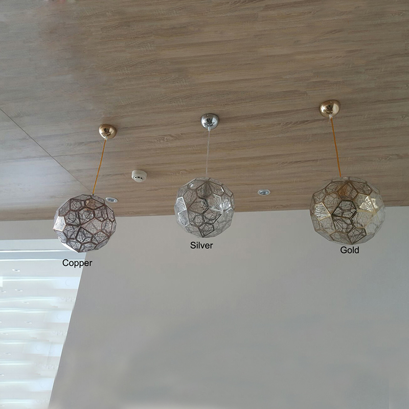 Us 379 99 5 Off Dia 60cm Gold Silver Copper Geometry Etched Web Suspension Hanging Lamp Modern Pendant Lights Bedroom Lighting Fixtures E27 Pl5 In