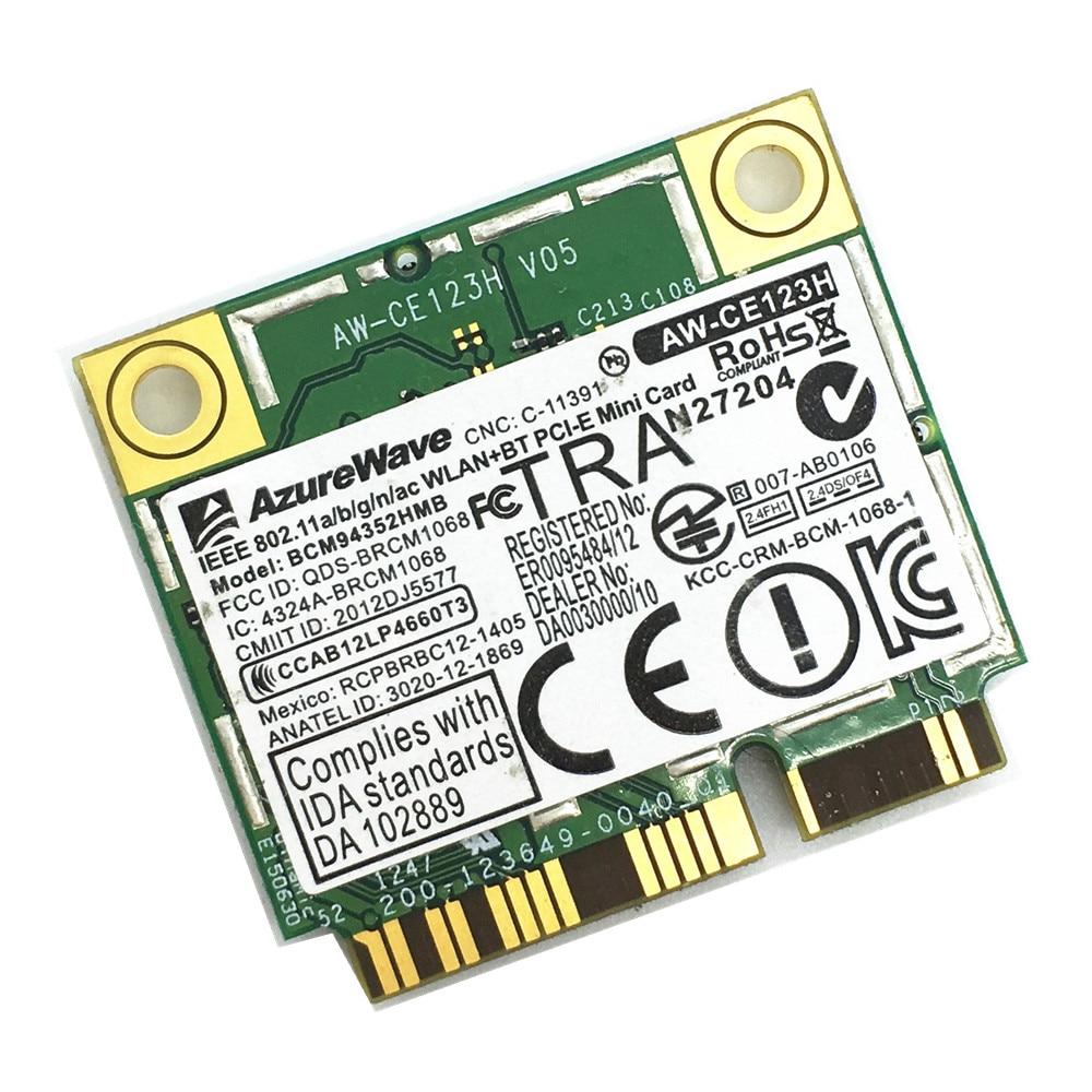 Prix pour BCM94352HMB 802.11ac 867 Mbps Dual-band 2.4 & 5G AC Bluetooth 4.0 BT4.0 WiFi Sans Fil Carte pour Hackintosh