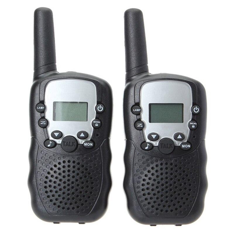 imágenes para Nueva Llegada 2 unids Mucho 0.5 W UHF Auto Multi-canales Mini Radios Walkie Talkie Negro Niños de Radio Pantalla LCD Auto Squelch