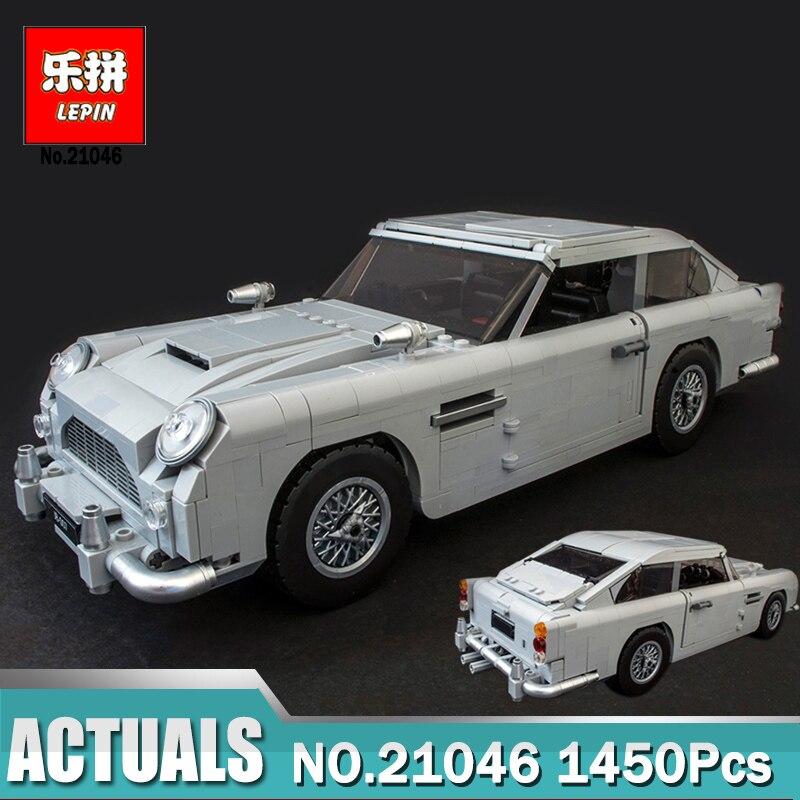 Lepin 21046 creador Aston coche 21001 Volkswagen T1 Camper 21003 escarabajo 21002 Cooper ladrillos juguete Compatible LegoINGly Brick