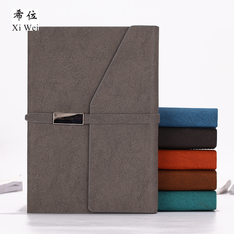 Simple Buckle Notebook Stationery Business Notebook Creative Work Diary Office Cortex Thick Book Customization deli 3164 notebook business meeting diary book with a gel pen black leather stationery thick notebook