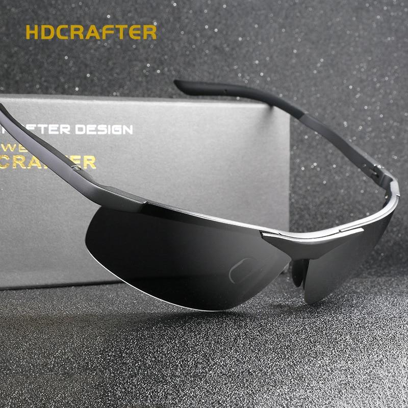 Hdcrafter grife unissex óculos polarizados dos homens óculos de armação  retro oculos de sol moda feminina 455bb485f0