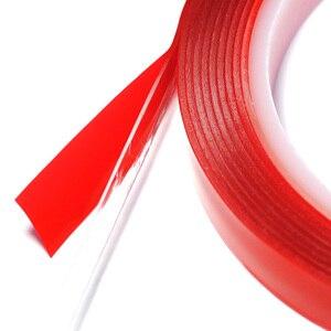 Image 4 - 3M Vermelho Transparente de Silicone de Alta Resistência Dupla Fita Adesiva Frente E Verso Etiqueta Para Carro Sem Vestígios Adesivo Adesivo Sala de Mercadorias