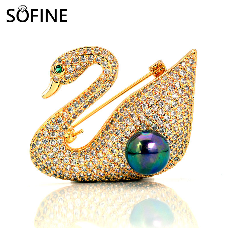 SOFIN Swan Pearl Брошки для жінок Вишукані - Вишукані прикраси