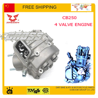 ZONGSHEN CB250 water cooled engine cylinder head bore 4 valve cqr KAYO BSE 250cc dirt pit bike atv quad motorcycle accessories