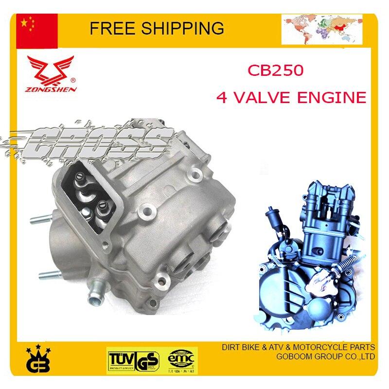 Zongshen CB250 eau refroidi moteur de culasse bore 4 valve cqr KAYO BSE 250cc dirt pit bike vtt quad moto accessoires