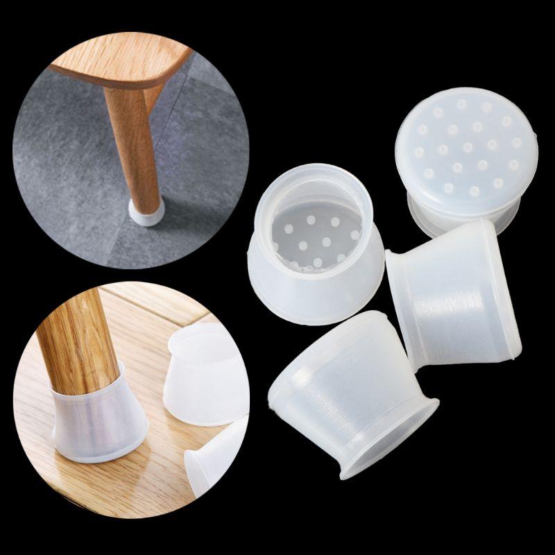 4 Pcs Silikon Stuhl Bein Caps Füße Pads Möbel Tisch Abdeckungen Boden Protektoren