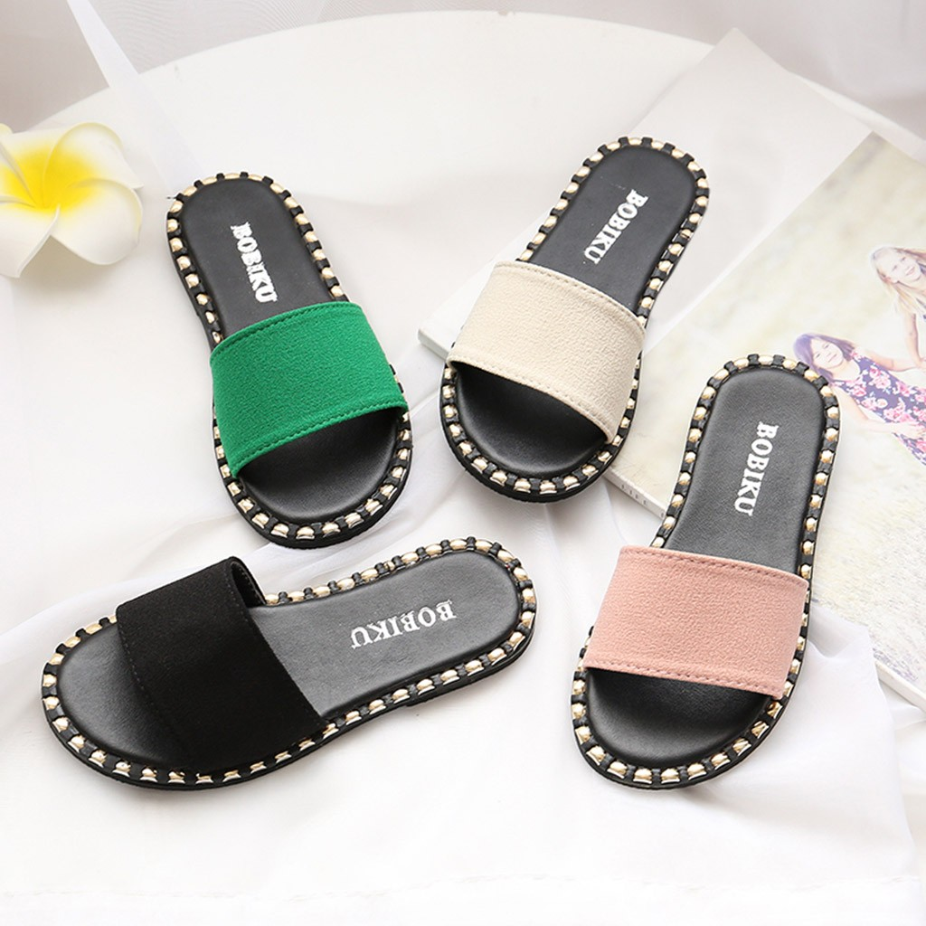 Girls Slippers Summer Children Kids Infants Baby Girls Candy Color Flat Slipper Casual Shoes Chaussons Enfant Slippers For Girls(China)