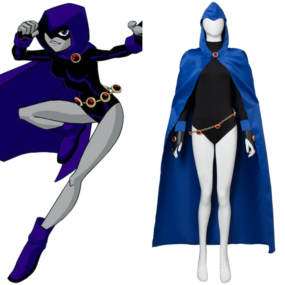 Dc Comics Teen Titans Costume The Raven Cosplay Costume -5110