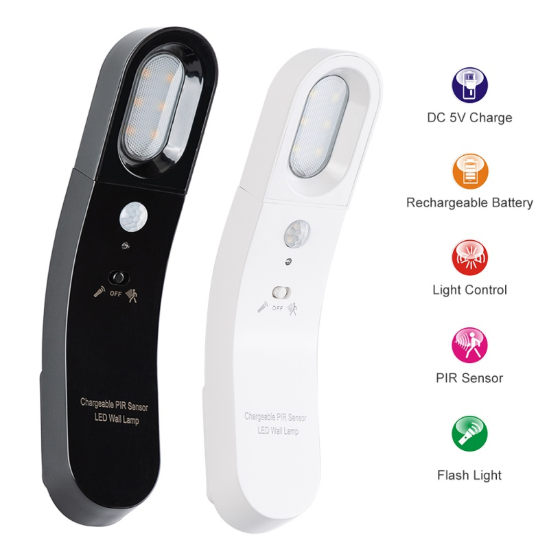 Rechargeable Body Sensor Light Motion Sensor Nightlight LED Human Body Motion Induction Lamp Energy Saving Lighting Gadgets