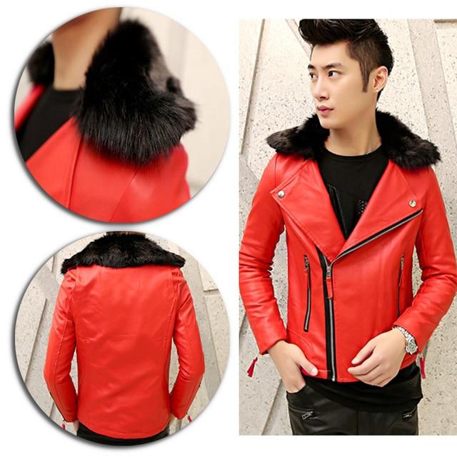 faux pelle impressionante di giacca Uomo pelliccia vintage A5UwxqH