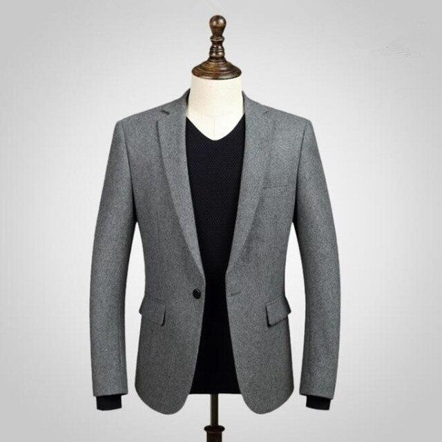 Черные мужские костюмы куртка шерсть смешанное формальные деловые костюмы куртка на заказ платья выпускного вечера венчания костюмы куртка