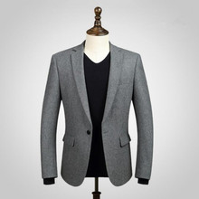 Black men suits jacket wool blended formal business suits jacket custom made wedding prom dress suits jacket