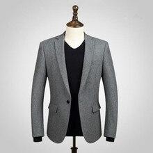 Black men suits jacket wool blended formal business suits jacket custom made wedding prom dress suits