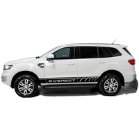 Car stickers 2 PC racing styling door body side stripe graphic vinyl car sticker for ford everest 2015 2016 SUV car decal
