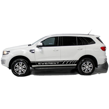 Car stickers 2 PC racing styling door body side stripe graphic vinyl car sticker for ford everest 2015 2016 car styling racing sticker body waist car door side scratches decorative decals hood stickers for ford vw bmw audi mazda subaru