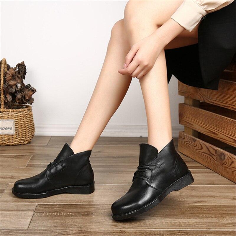 Aa60312 De Mujeres Negro Cómodos Up Señoras fósforo Única Caliente Todo Escombros Botas Venta Genuino Mujer Las marrón Clásico Lace Cuero Zapatos UqIrxwUBF