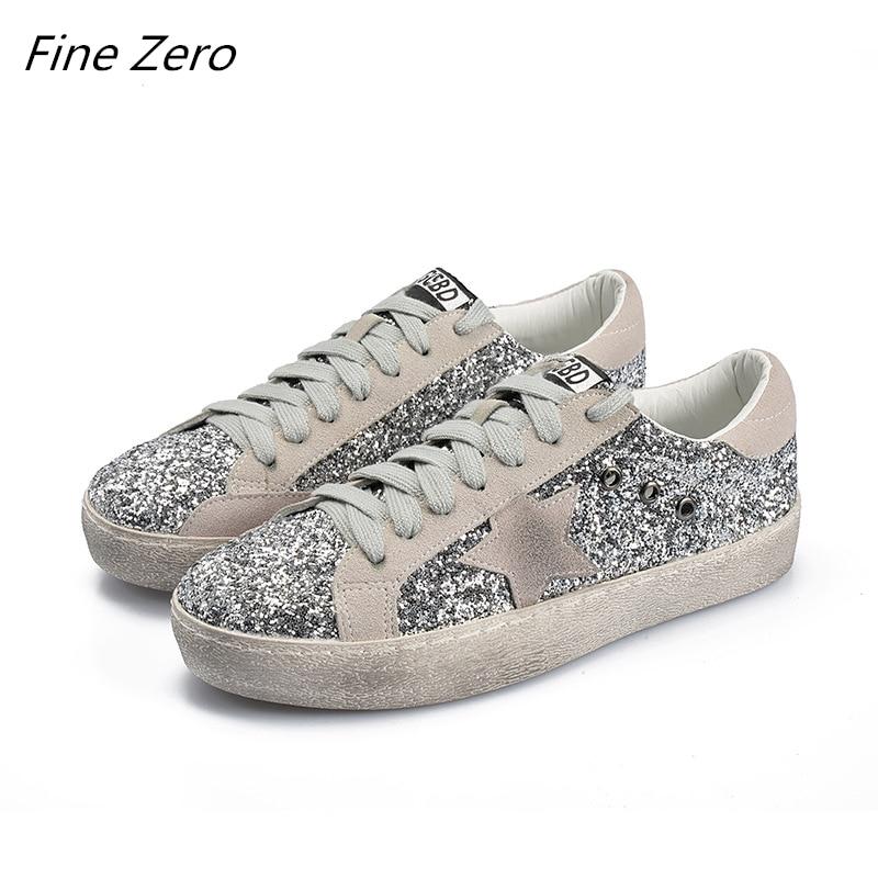 Bien cero de las nuevas mujeres zapatos de skate zapatos de cuero sucia zapatillas de deporte de Color mixto de encaje zapatos planos zapatillas de deporte las mujeres