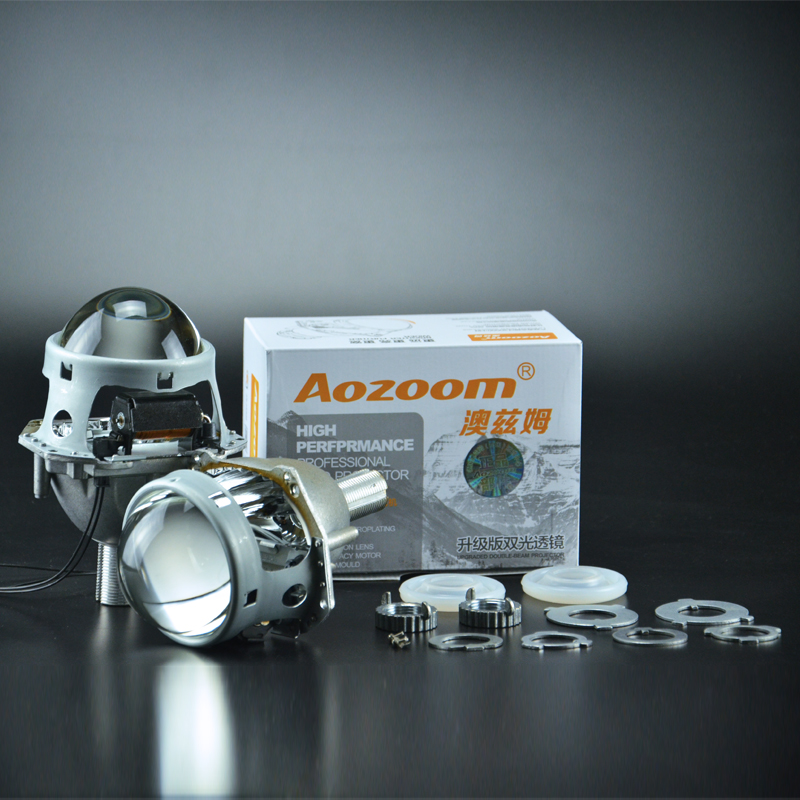 2017 Aozoom Car styling Auto head light 3.0 pouce Bi xénon Objectif Du Projecteur HELLA H7 Sans Perte Non-destructive Lentille