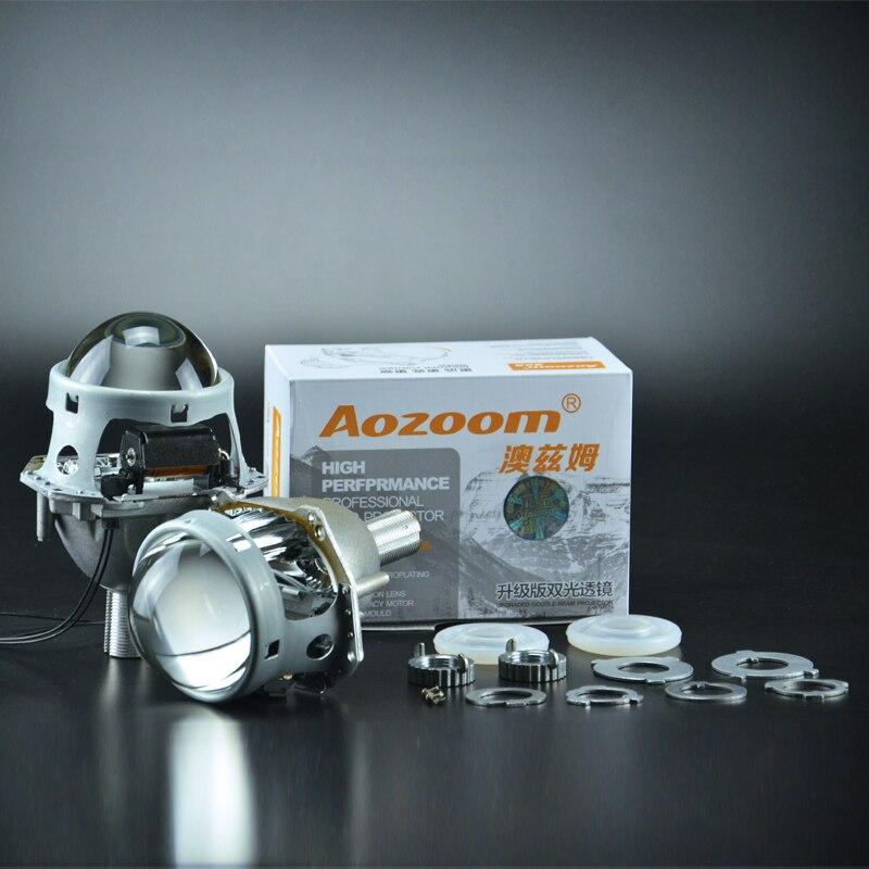 2017 Aozoom voiture style Auto tête lumière 3.0 pouces Bi xénon projecteur lentille HELLA H7 sans perte lentille se connecter avec HC21 ampoule