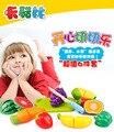 Jugar juguetes De Plástico de Cocina Fruta verduras Corte Niños Juegos de Imaginación Juguetes Educativos Cocinero Cosplay juguetes de cocina 6 unids/set