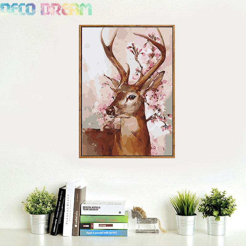 Full Diamond Painting The New Happy Deer Diy Diamond Embroidery Oil Painting Style Decorated Living Room A Good Gift For Family in Diamond Painting Cross Stitch from Home Garden
