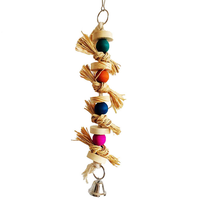 Parakeet Chewing Toy Parrot Bird Bites Swing Ball Loofah Vine Jul22 Professional Factory price Drop Shipping