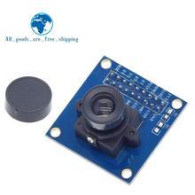 Módulo de câmera tzt ov7670, módulo ov7670 modulesupports vga cif auto exposição controle de tamanho ativo 640x480 para arduino