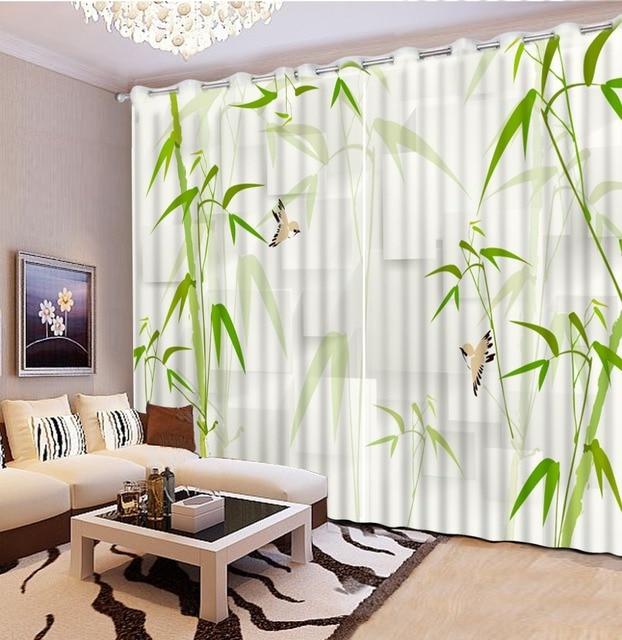US $123.58 49% OFF|Mode vintage schlafzimmer vorhänge grün bambus vorhänge  für wohnzimmer blackout vorhang stile für schlafzimmer in Mode vintage ...