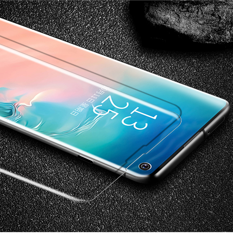 UV Liquid Glass For Samsung Galaxy Note 10 Pro S10 Plus S10 5G Full Cover Screen Protector Note 9 S9 S8 Tempered Protective Film in Fitted Cases from Cellphones Telecommunications