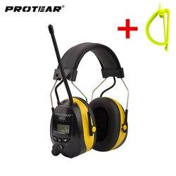 Protear NRR 25 дБ слуховой протектор AM FM радио наушники Электронная Защита уха радио Защита слуха