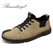 BIMUDUIYU Fashion Men Sneakers for Casual Shoes Breathable Lace up Mens Big Size 38-46 Flat